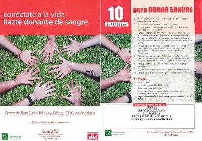CAMPAÑA DONACIÓN DE SANGRE @ BIBLIOTECA